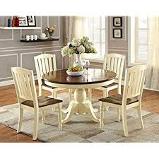 furniture of america pauline 5 piece cote style oval dining set