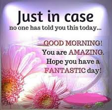 Fantastic Good Morning Quotes Best of Good Morning You Are Amazing Hope You Have A Fantastic Day