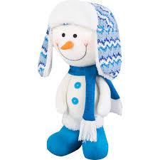 <b>Фигурка декоративная</b> «Снеговик в шапке и шарфе», 42 см в ...