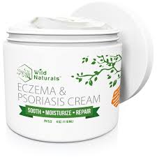 Buy Wild Naturals Eczema & Psoriasis Cream, For Dry, Irritated Skin ...