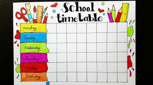 Timetable Chart Ideas School Timetable Design How To Draw And Color Easy Step By Step For Kids