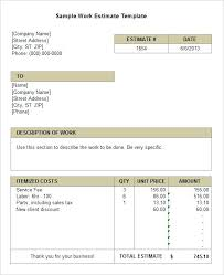 Electrical Estimator Resumes Related Post Electrical Estimate Example Formula Of
