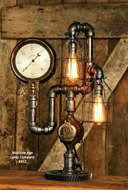 pipe lamp steampunk industrial pipe lamp antique 6 steam gauge sold pipe lamp parts list pipe lamp