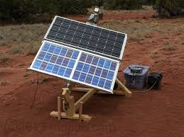 my home built solar panel tracker set up and working