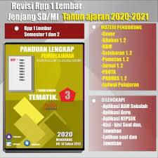 Tersedia pembahasan soal dan kumpulan kunci jawaban tematik sd/mi kelas 1 2 3 4 5 6, subtema 1 subtema 2 subtema 3 subtema 4 subtema 5 subtema 6, kegiatan berbasis proyek dan literasi, pembelajaran 1 pembelajaran. Rpp K13 Perangkat Pembelajaran Sd Mi Kelas 3 Tematik Edisi 2020 2021 Shopee Indonesia