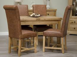 solid oak dining table extending large sets l round extendable