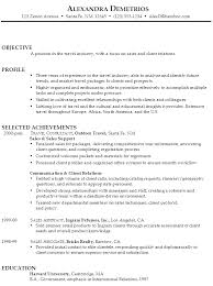 Sample Resume Travel Sales and Client Relations