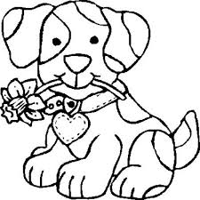 Small Picture Dog Bite a Flower Coloring Page Dog Bite a Flower Coloring Page