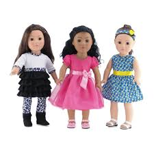18 Inch Doll Clothes| Value Pack <b>Doll Shoes</b>, Including Pink Easter ...
