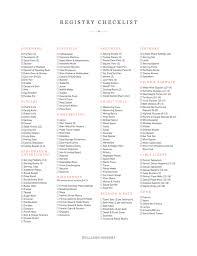 Downloadable Check Register Downloadable Registry Checklist Williams Sonoma Taste