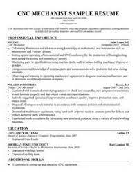 Cnc Operator Resume Cnc Machinist Resume Samples Executive Cnc Operator  Resume Sample Concrete Plant Operator Resume