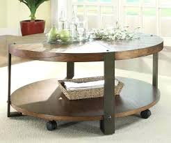 coffee table on casters stylish round coffee table with wheels coffee table metal and wood rustic