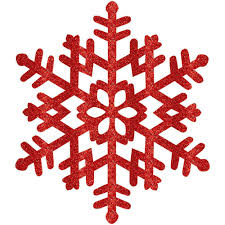 Christmas Snowflakes Pictures Amscan 15 In Red Glitter Snowflake 4 Pack
