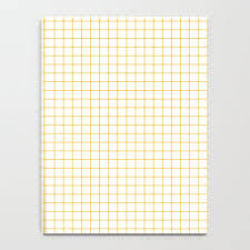 Yellow Graph Paper Notebook