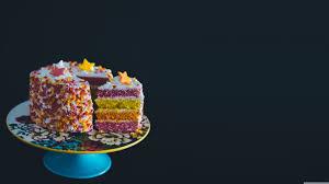 Colorful Birthday Cake 4k Hd Desktop Wallpaper For Wide Ultra