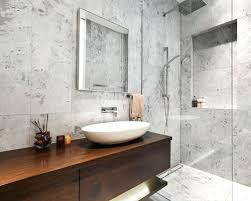 white carrara marble bathroom. Carrara Marble Bathroom Contemporary In With Flat Panel Cabinets Dark Wood Gray Tile White Ideas L