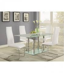 5 pc dining table set chrome base