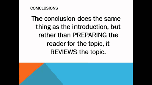 Conclusion In Essay Writing Introductions And Conclusions In An Essay Youtube
