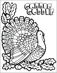 Preschool Thanksgiving Turkey Coloring Pages To Color Home