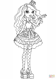 Small Picture Ever After High Madeline Hatter coloring page Free Printable
