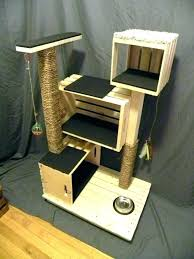 outdoor cat tree out ideas tower design plans wooden