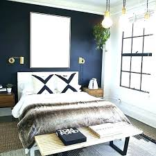 navy blue wall decor bedroom walls modern with a dark accent and gold