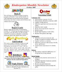 Preschool Newsletter Template Beauteous Monthly Newsletter Template 48 Free Word PDF Documents Download