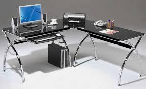 computer z bedroom glass top l shaped desk nice glass top l shaped desk 3 with elegant