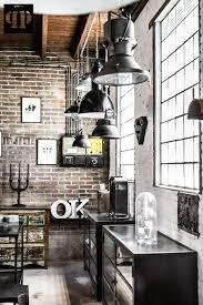 interior industrial lighting fixtures. exposed bricks and wires retro lighting fixtures metal cabinets industrial interior design s