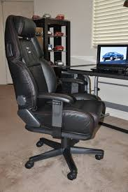 custom office chair. Nissan 300ZX Custom Leather Office Chair - Black W/ Red Stitching C