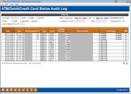 Atm Debit Credit Card Status Audit Log