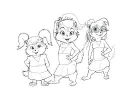 Alvin Chipmunks Colouring Pages And The Free Nickelodeon Coloring