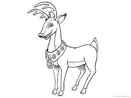 Reindeer Coloring Pages For Adults Free Coloring Pages