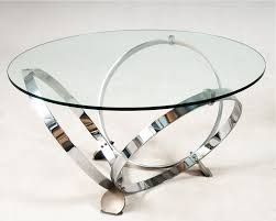 modern round glass coffee table chrome ring legs round chrome coffee table modern glass chrome coffee