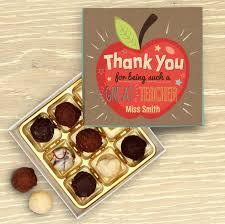 teacher thank you personalised chocolate box