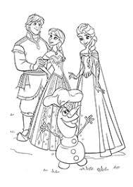 アナと雪の女王 印刷できる塗り絵