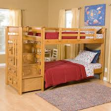 decorating nice kids wooden bunk beds 20 light wood bed for with stairs and unique drawers