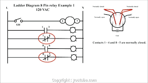 relay wiring diagram fan limit switches to control motor 8 pin 24v creative 8 pin relay base wiring diagram connection electrical octal