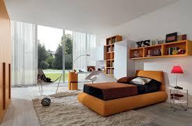 Bedroom Design, Modern Large Teen Bedroom Design Inspiration With Orange  Furniture Accents: How To