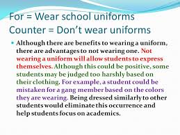 school uniforms essay slideshare school uniform for and against  school uniform for and against essay class essay the school uniform question 1 nowadays the