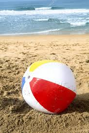 Contemporary Beach Ball In Sand Colorful Summertime Washes Up To The Inside Modern Ideas