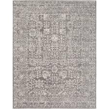 surya harput light grey 8 ft x 10 ft indoor area rug