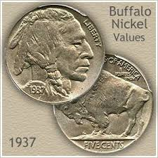 1937 Wheat Penny Value Chart 1937 Nickel Value Discover Your Buffalo Nickel Worth