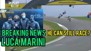 Luca Marini Huge Highside on Moto2 Le Mans 2020 | Luca Marini Medical  Update - YouTube