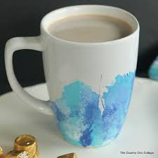 make your own marbled mug plus my rolo hot chocolate recipe