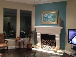 Living Room Accent Wall Color Teal Accent Wall Fireplace Wall But Use Blue Of Chair Accent The