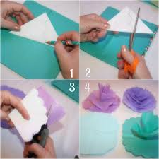 Tissue Paper Flower Instructions Instructions For Making Tissue Paper Flowers
