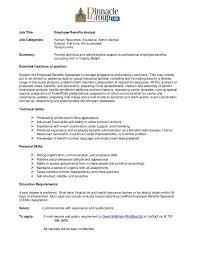 employee benefits analyst job description job title employee benefits analystjob categories human resources insurance admin clericalexempt benefits analyst job description