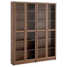 well known glass front bookcases for billy oxberg bookcase white glass ikea