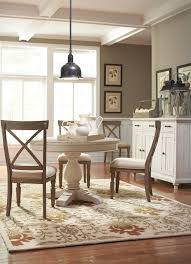 Living Room With Dining Table Riverside Furniture Aberdeen Rectangular Farmhouse Expandable